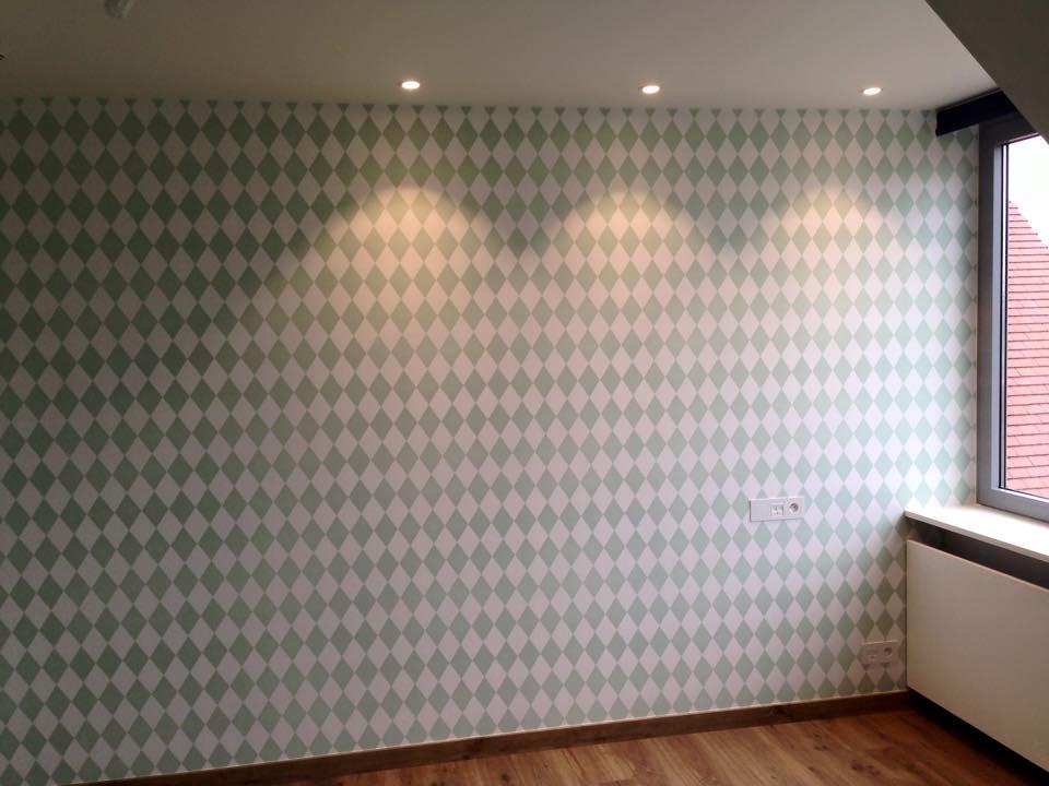 fabulous een slaapkamer behangen met decoratief papier